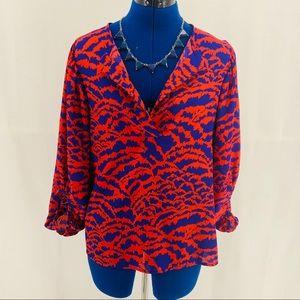 Collective Concepts orange/purple Blouse M